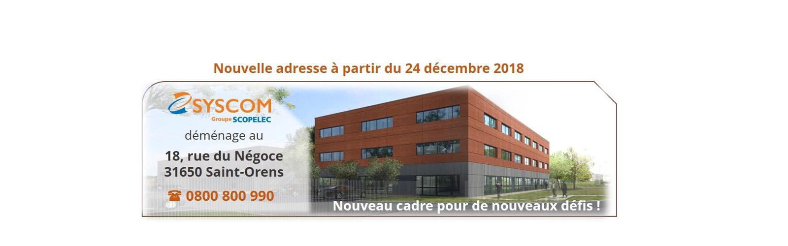 Syscom nouvelle adresse